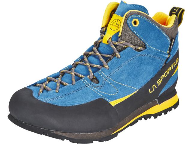 63c964c1d87736 La Sportiva Boulder X Mid Scarpe Uomo, blue/yellow su Addnature